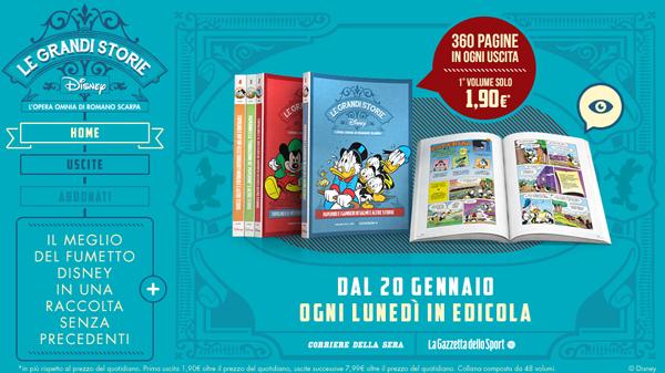 Le Grandi Storie Disney: oggi in edicola l'opera omnia di Romano Scarpa