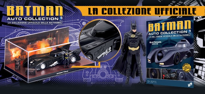 Batmobile: in edicola i modellini dell'auto di Batman