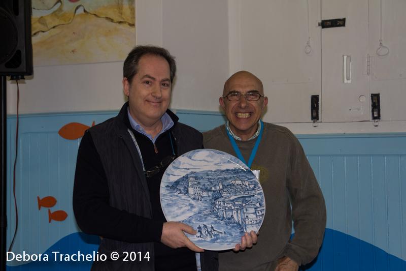 Il premio a Renzo Calegari (assente sabato) ritirato dall'editore Carlo Bazan