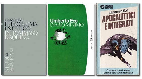 tre libri di Umberto Eco