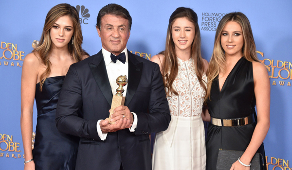 Sistene, Sophia and Scarlet Stallone - Golden Globe