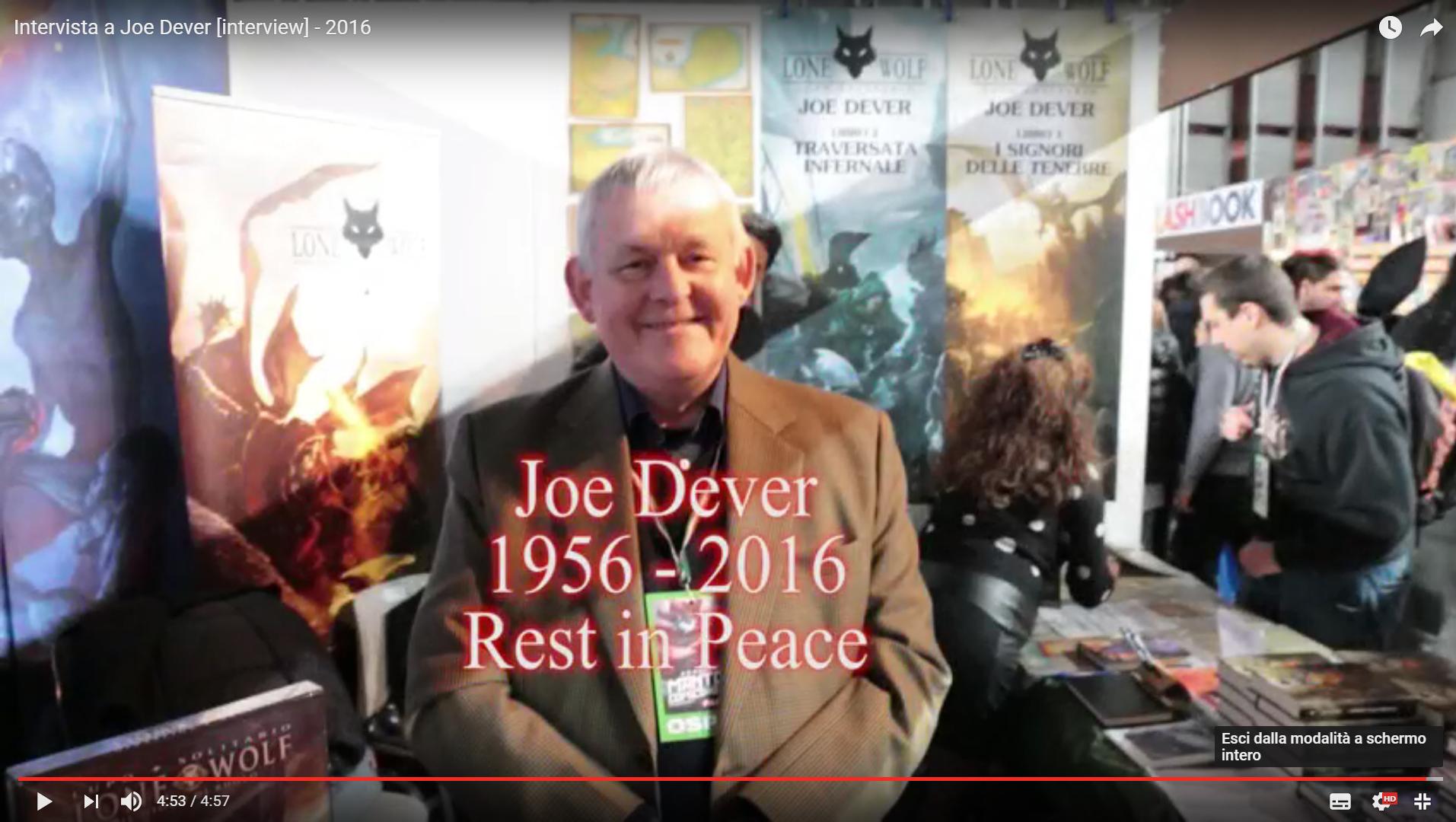 """Joe Dever: video-intervista all'autore di """"Lupo Solitario"""""""