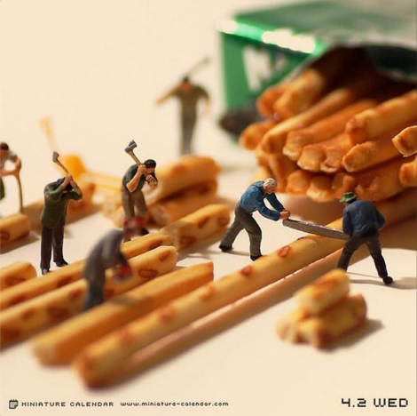 Il mondo in miniatura di Tanaka Tatsuya