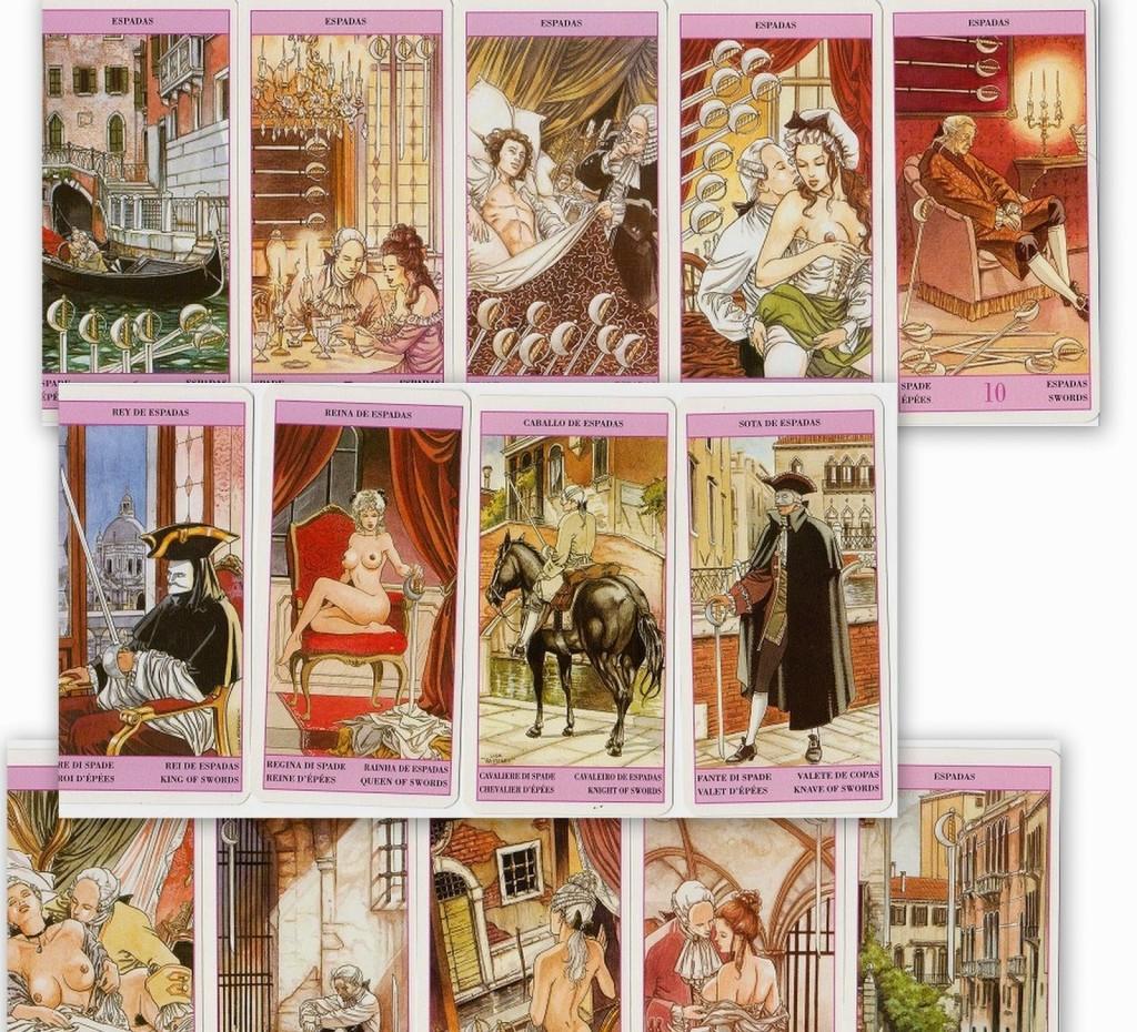 I Tarocchi di Casanova illustrazioni erotiche