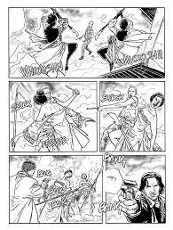 Una pagina di Dampyr con Telsa di Luca Raimondo