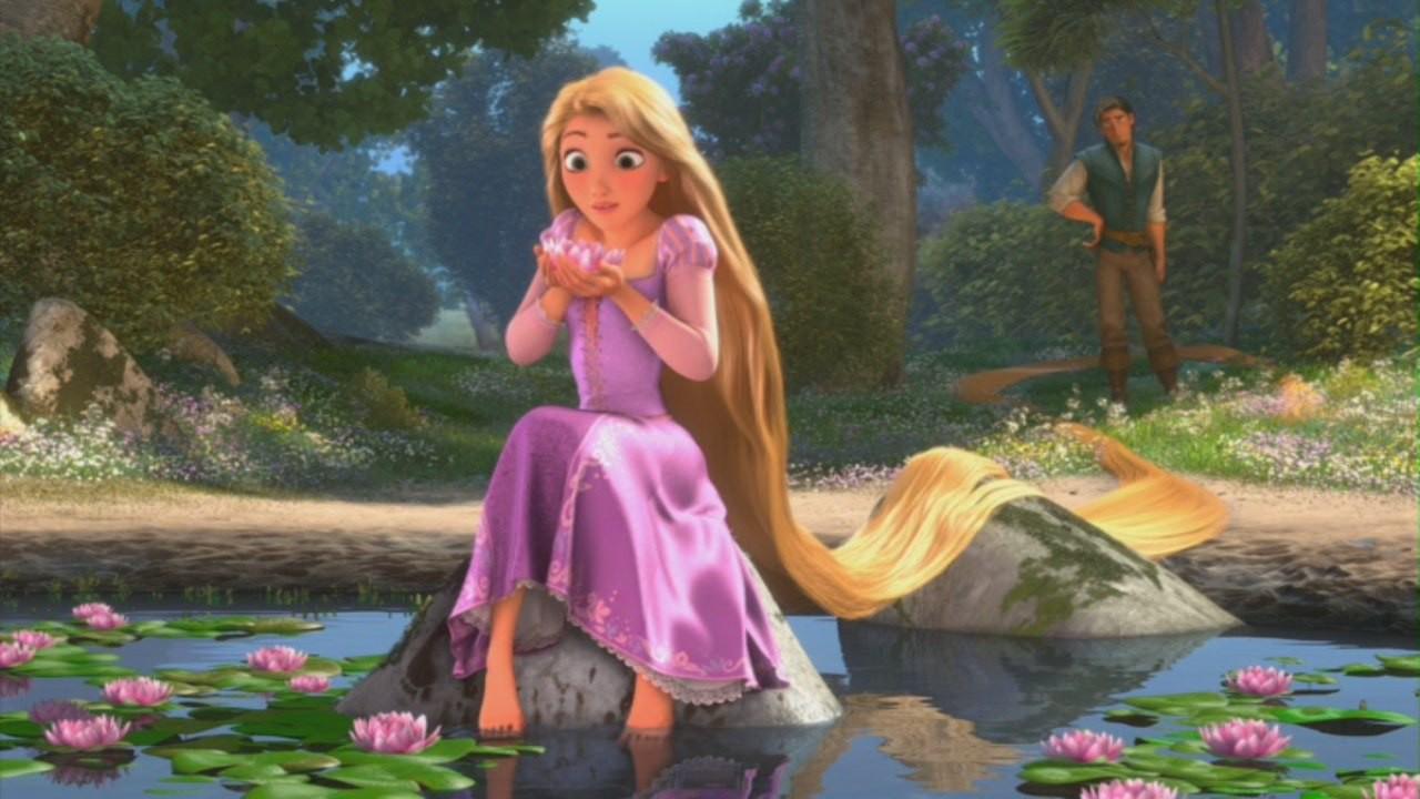 Rapunzel: scena dal film